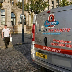 LockFix Locksmiths returning from a job in Liverpool